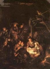 Birth of Jesus by Rembrandt