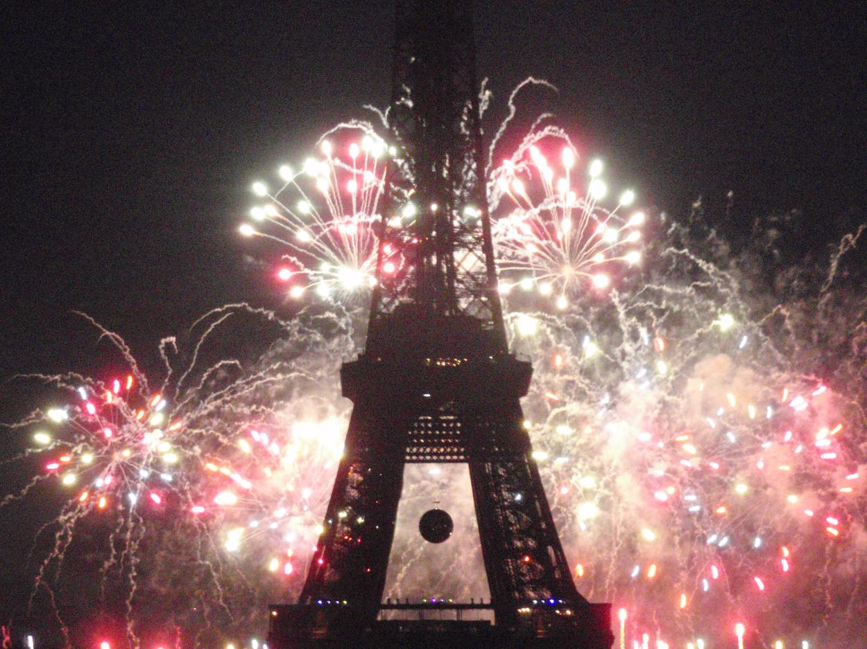 Fireworks at Eiffel Tower Copyright Peter Hallett 2012