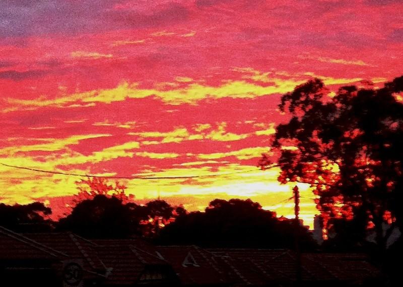 sunrise, sky, colours, beauty