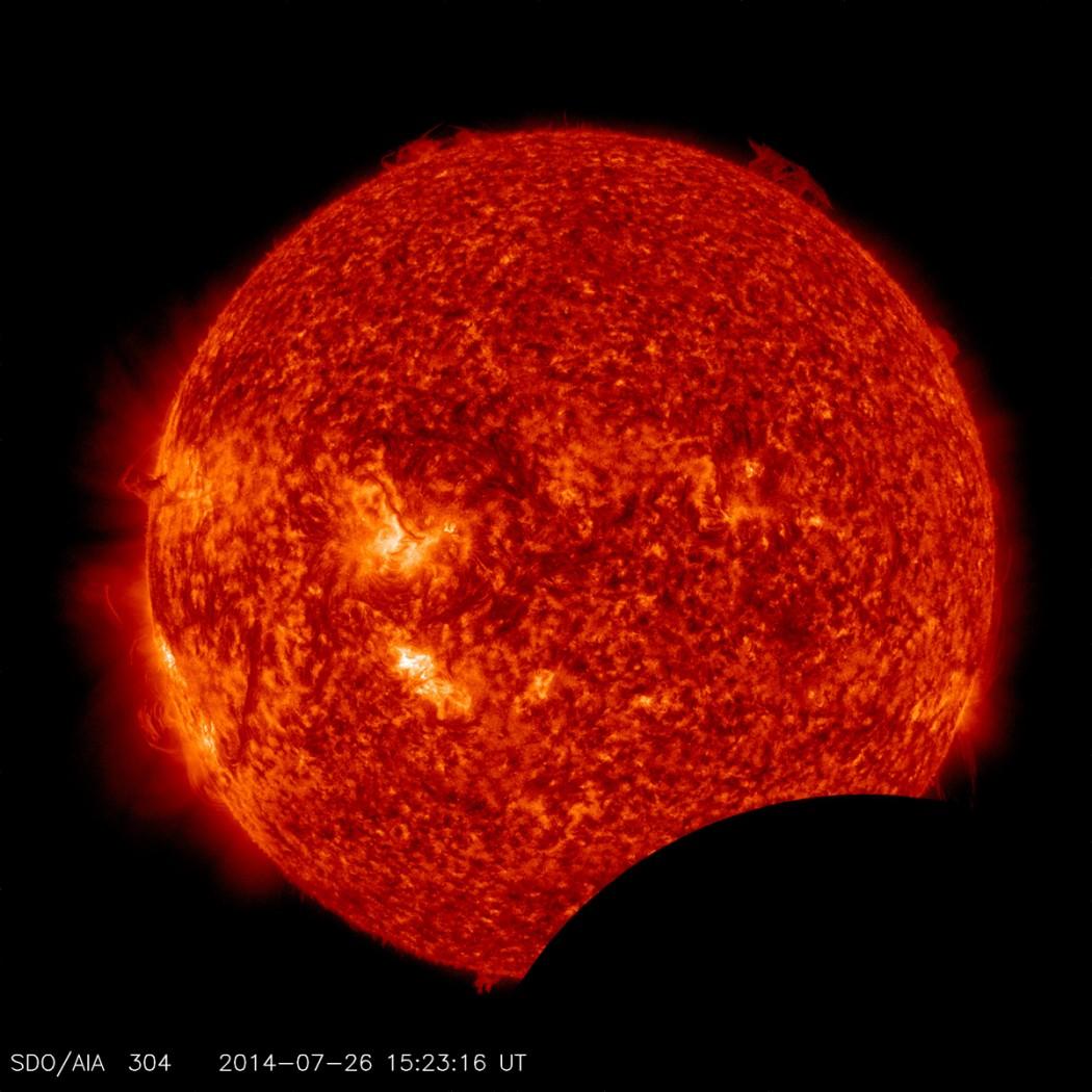image, SDO, lunar transit  NASA